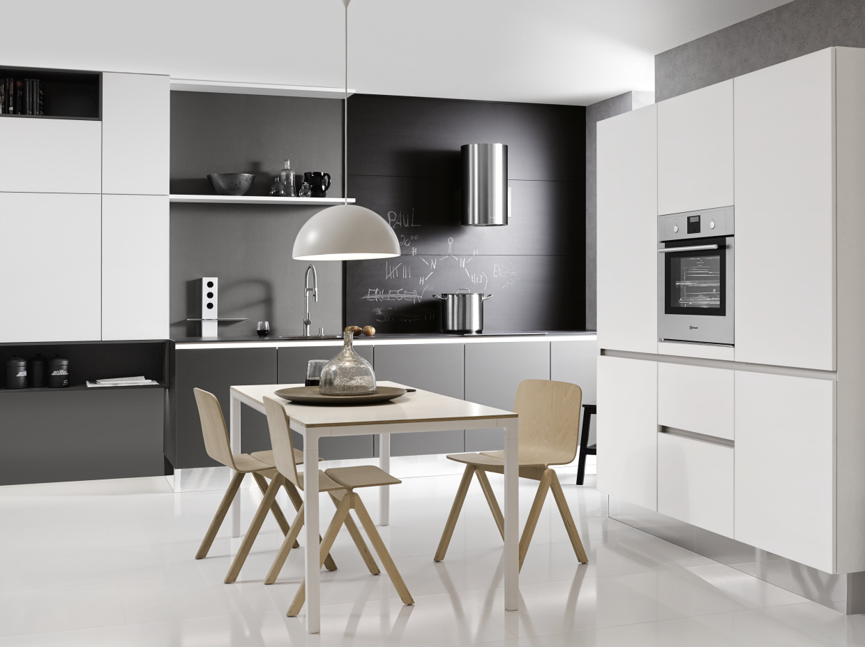 Dynamically Modern  Linear Kitchen Designs -> Kuchnia Kaflowa Z Piekarnikiem