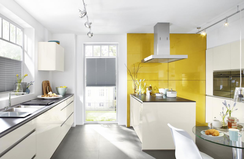 Dynamically modern linear kitchen designs - Magnolia hochglanz ...