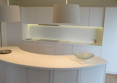 Corian Worktop with Splashback
