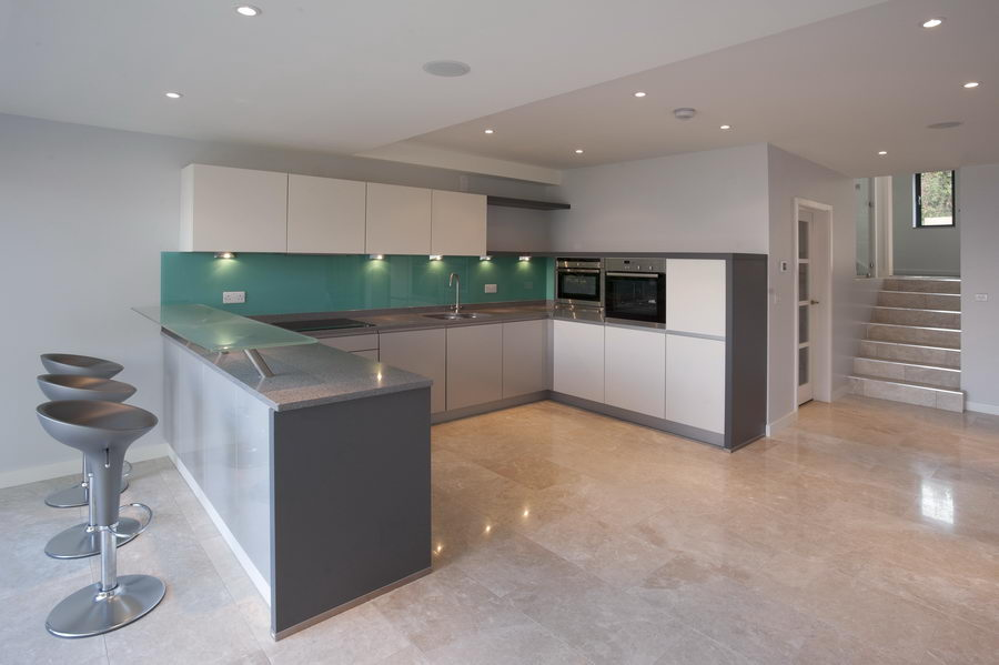 Glass Splashbacks On The Isle Of Wight South Of England Linear Kitchen Designs