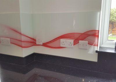 Glass around corners and sockets