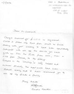Franklin letter 2