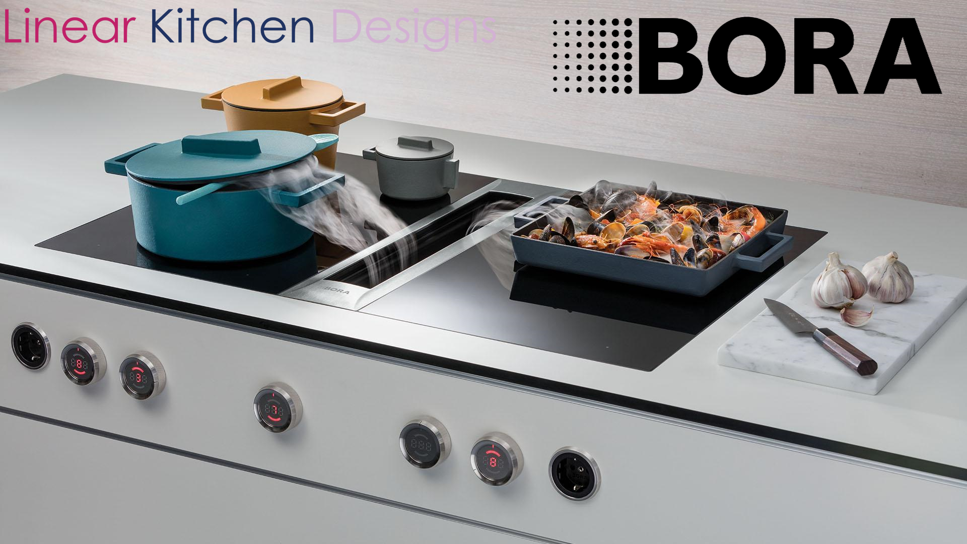 Click for more information on Bora hobs with built in extractors