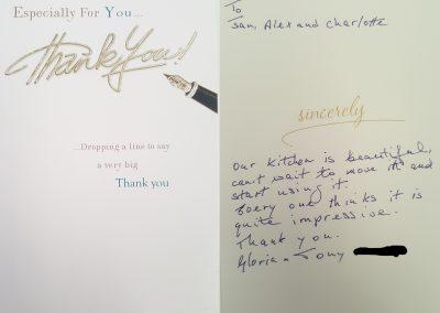 Customer Thank you card