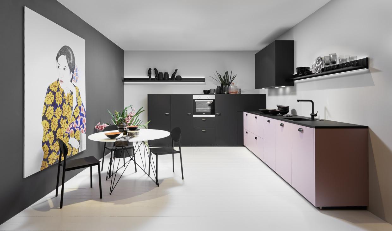 Koje 17 Manhattan Uni - Lavendel / Soft Lack - Schwarz softmatt